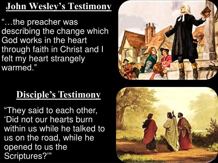 John Wesley's Testimony