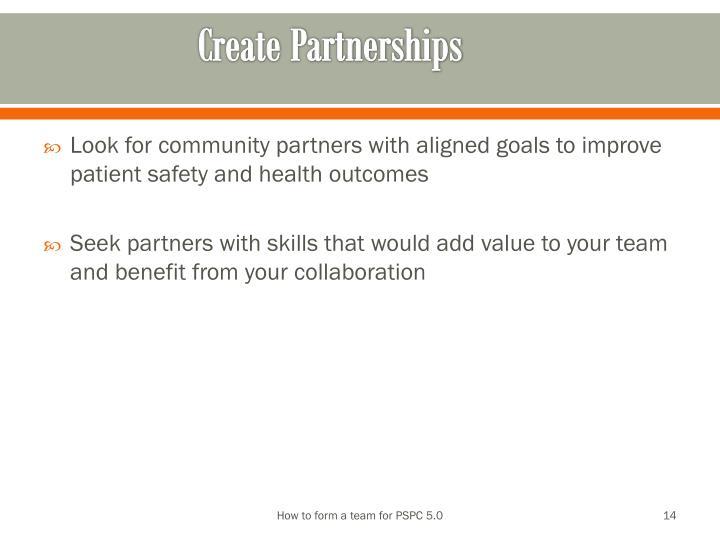 Create Partnerships
