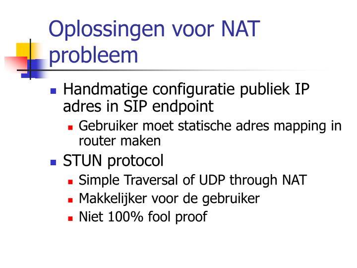 Oplossingen voor NAT probleem