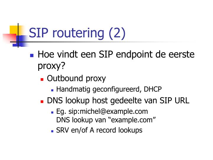 SIP routering (2)