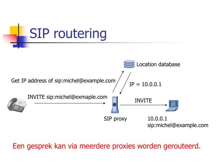 Get IP address of sip:michel@example.com
