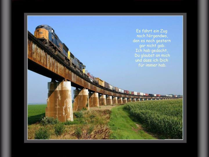 Es fährt ein Zug