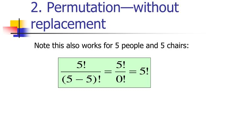 2. Permutation—without replacement