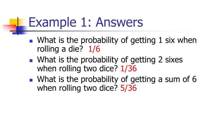Example 1: Answers
