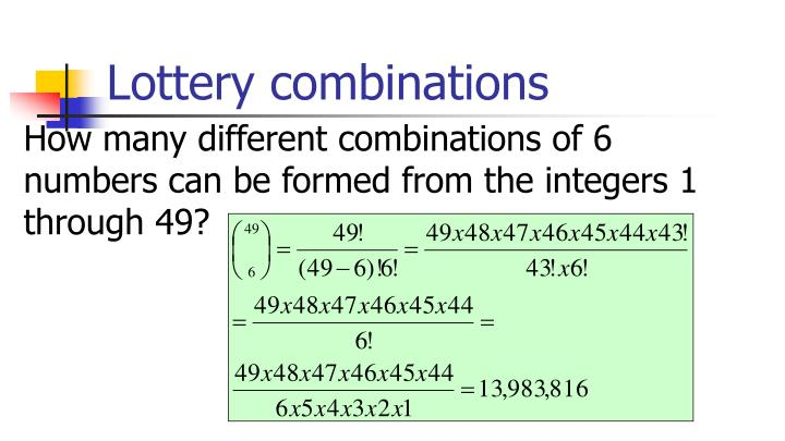 Lottery combinations