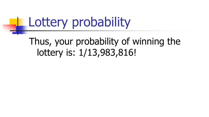 Lottery probability