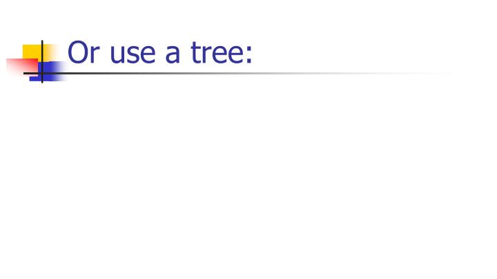 Or use a tree: