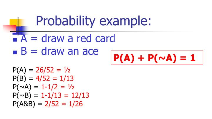 Probability example: