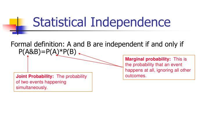 Marginal probability: