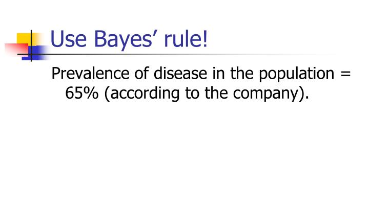 Use Bayes' rule!