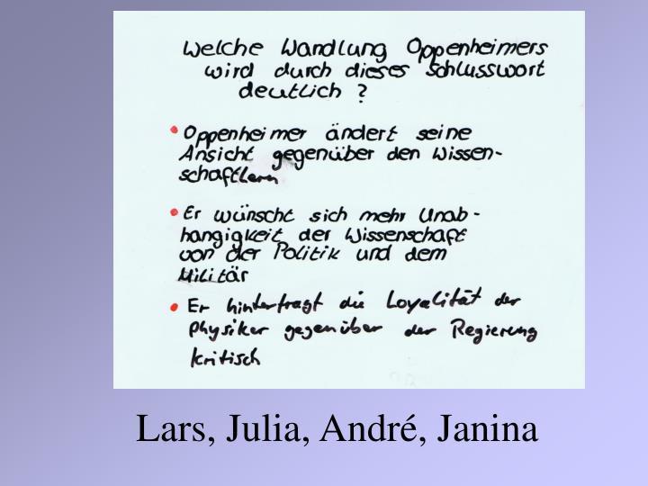 Lars, Julia, André, Janina