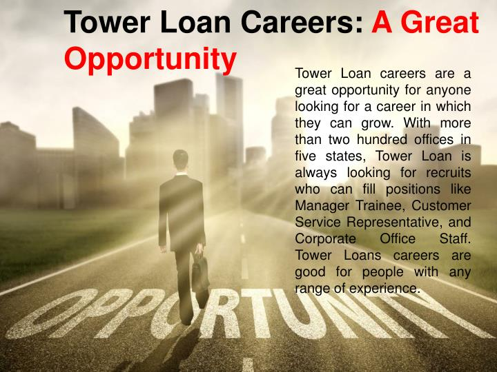 Tower Loan Careers: