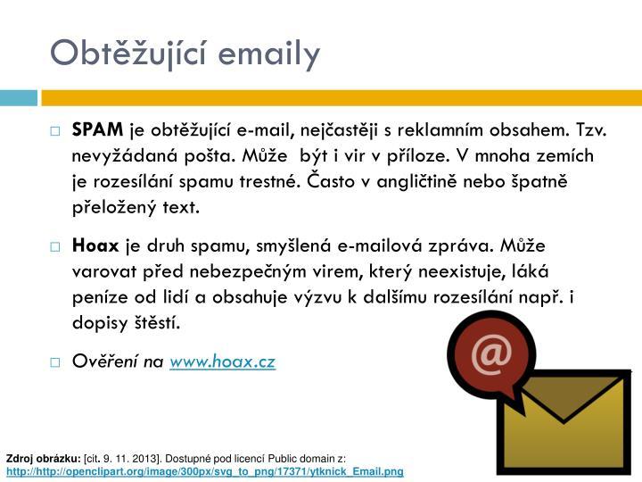 Obtěžující emaily