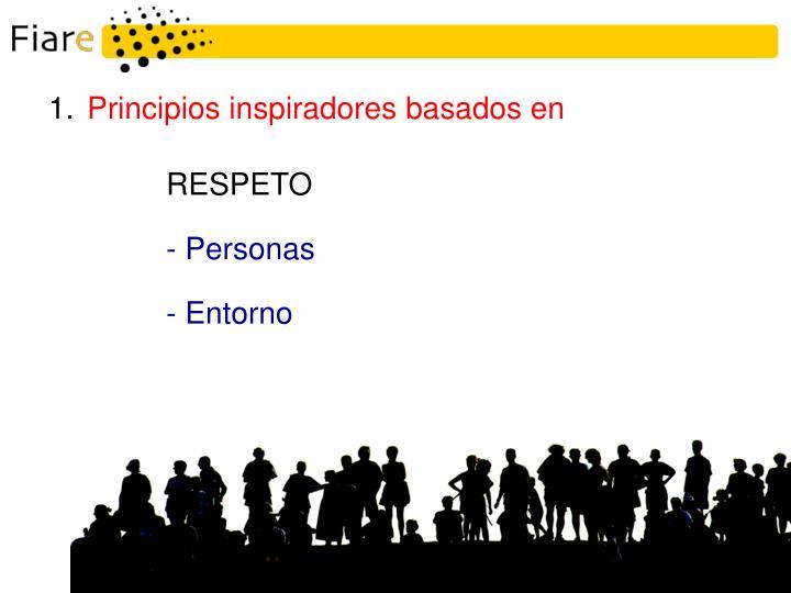 Principios inspiradores basados en
