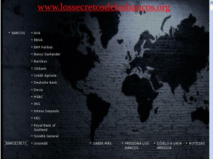 www.lossecretosdelosbancos.org