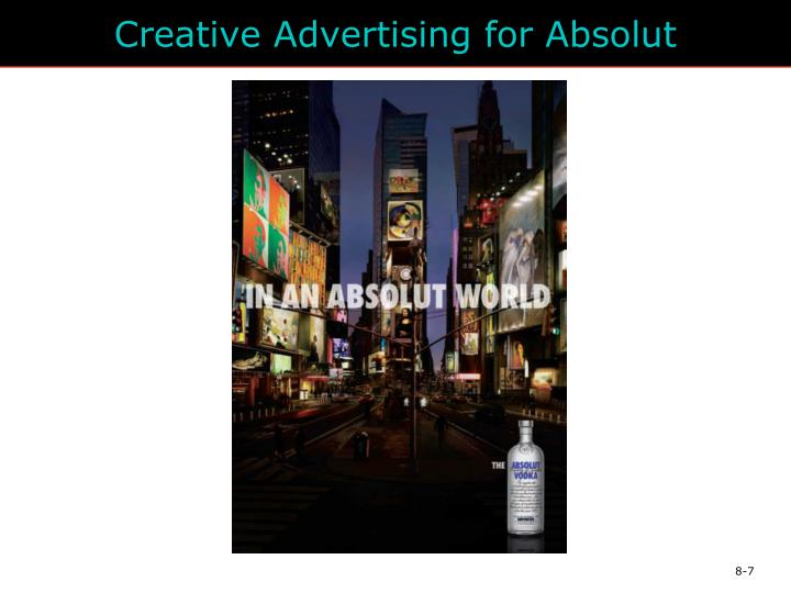 Creative Advertising for Absolut