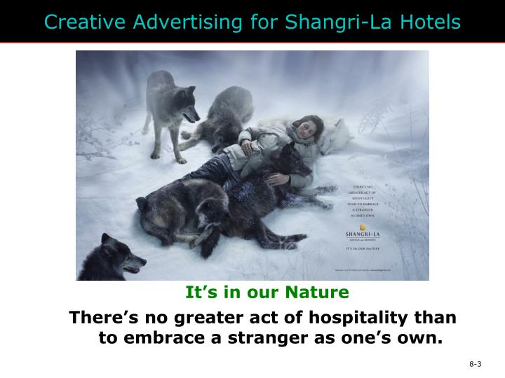 Creative Advertising for Shangri-La Hotels