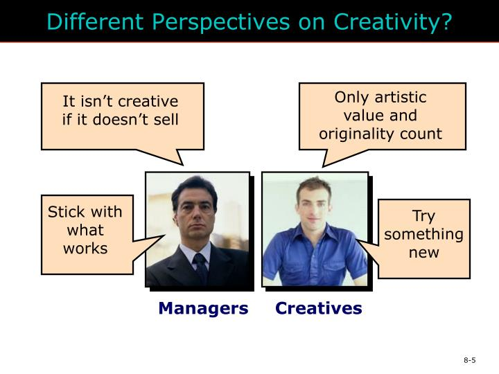 Different Perspectives on Creativity?