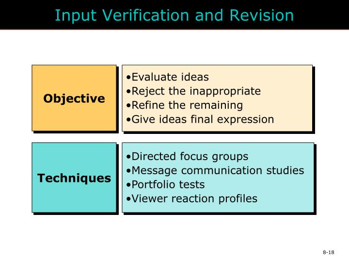Input Verification and Revision