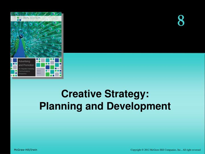 Creative strategy planning and development