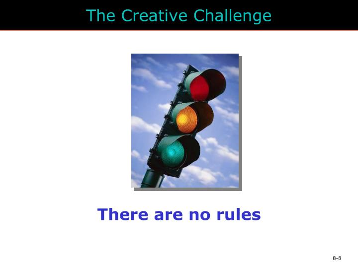 The Creative Challenge