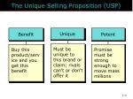 the unique selling proposition usp