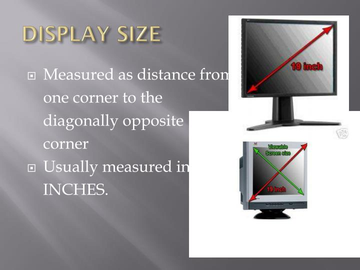 DISPLAY SIZE