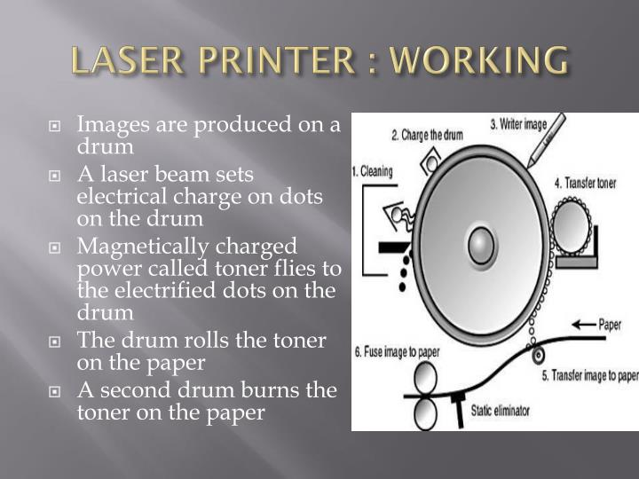 LASER PRINTER : WORKING