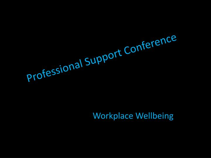 Professional Support Conference