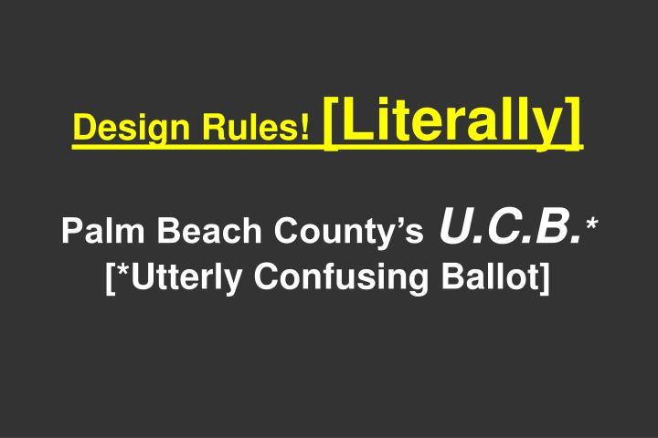 Design Rules!