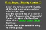 first steps beauty contest