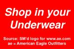 shop in your underwear source sm d logo for www ae com ae american eagle outfitters