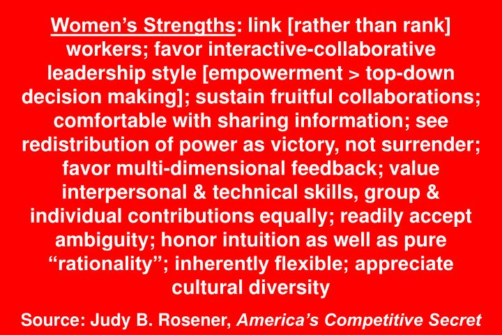 Womens Strengths