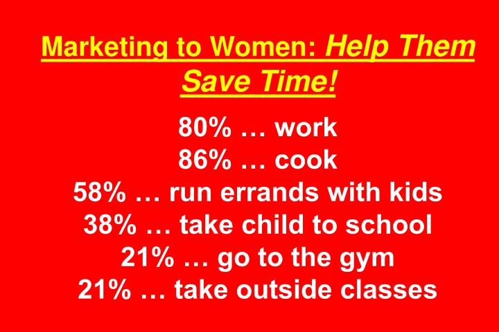 Marketing to Women: