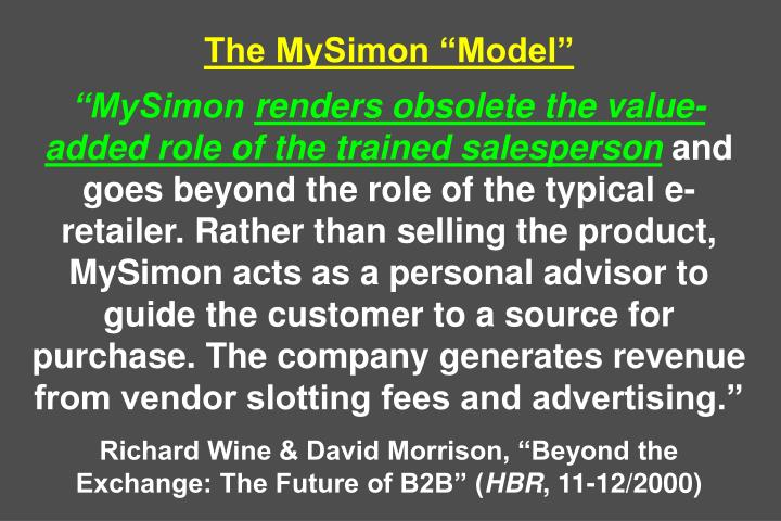 The MySimon Model