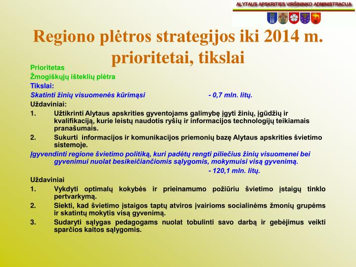Regiono plėtros s