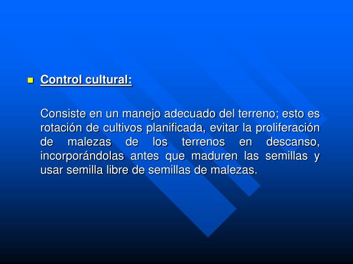 Control cultural:
