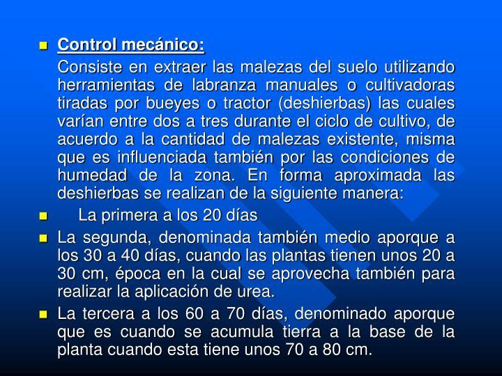 Control mecánico: