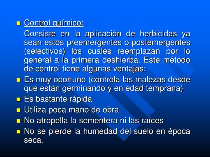 Control químico:
