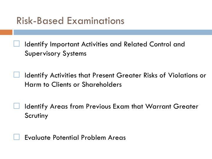 Risk-Based Examinations