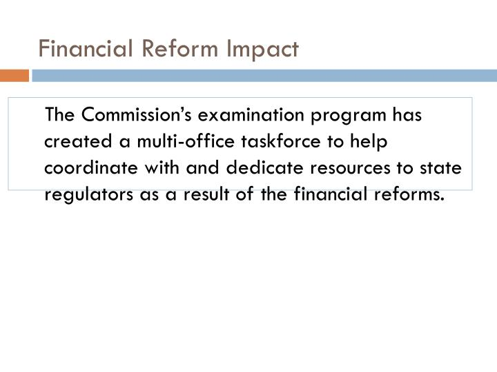 Financial Reform Impact