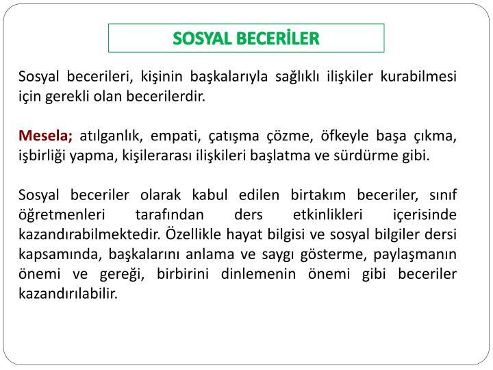 SOSYAL BECERİLER