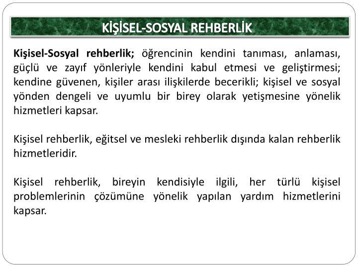 KİŞİSEL-SOSYAL