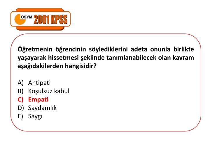 2001 KPSS