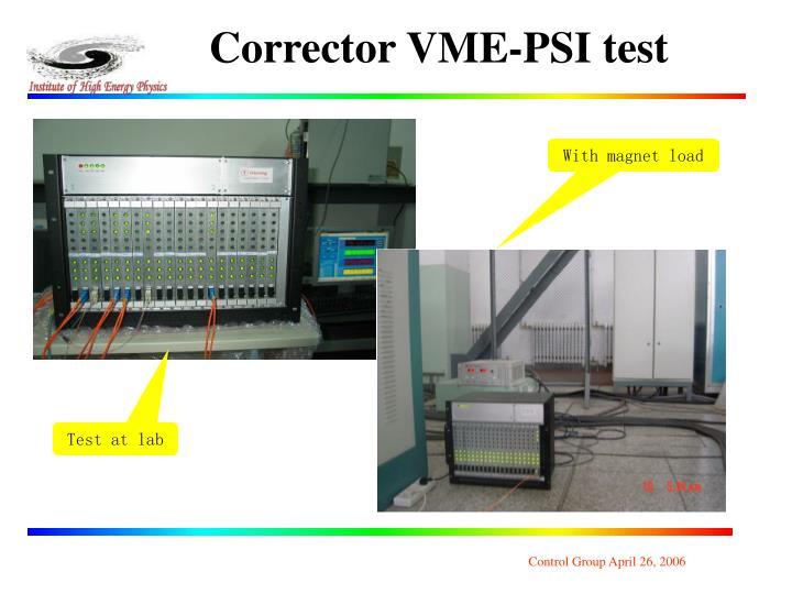 Corrector VME-PSI test