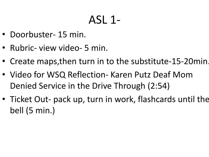 ASL 1-