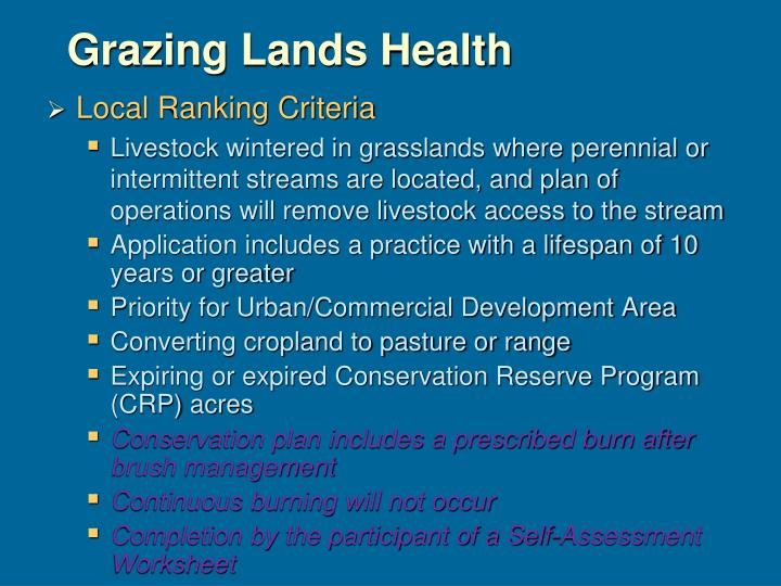 Grazing Lands Health