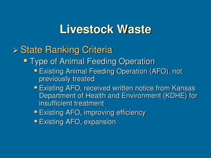 Livestock Waste