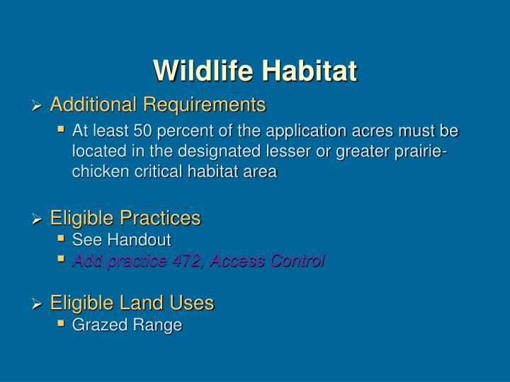 Wildlife Habitat