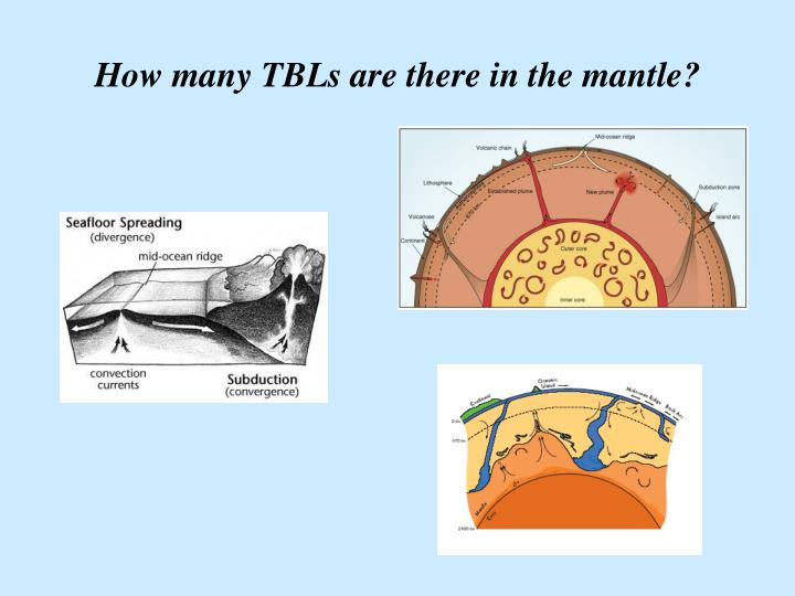 How many TBLs are there in the mantle?